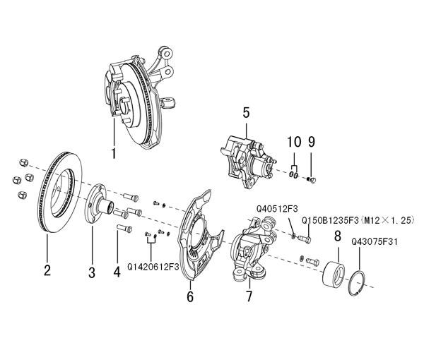 передний тормозной диск