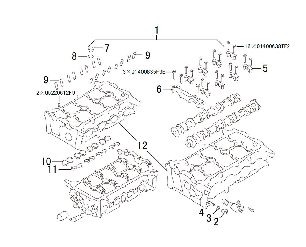 головка блока цилиндров 1
