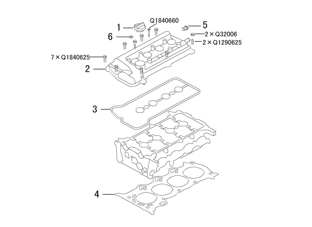 головка блока цилиндров 3