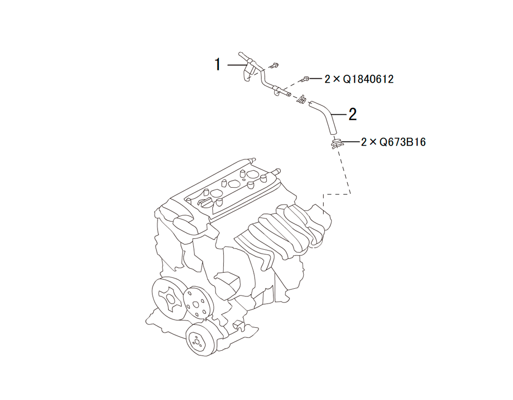 трубопровод вакуумного усилителя