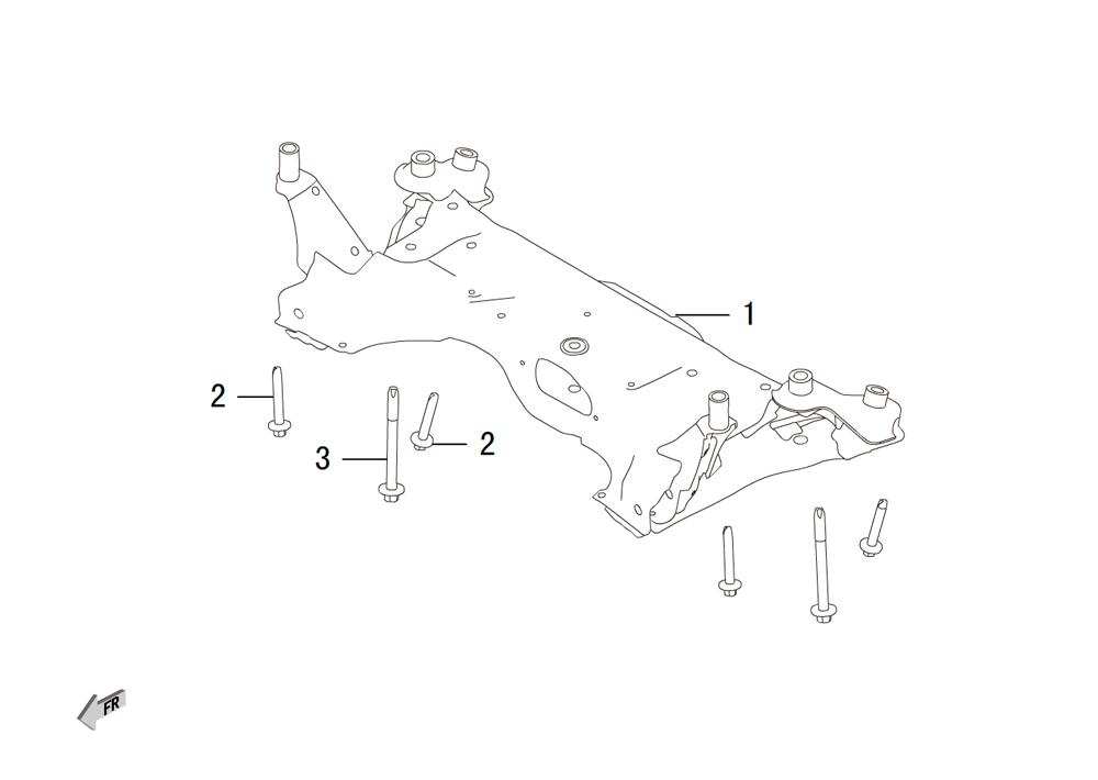 передний подрамник