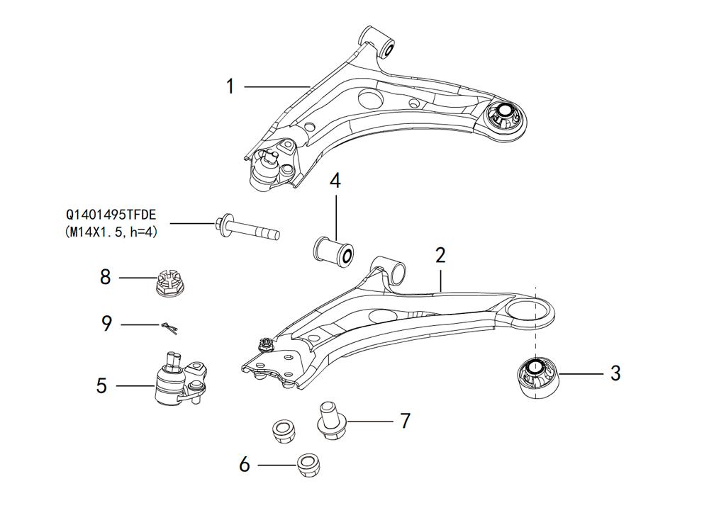 передние рычаги