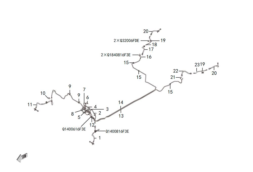 трубопровод тормозной системы