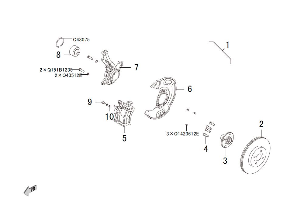 передний тормоз