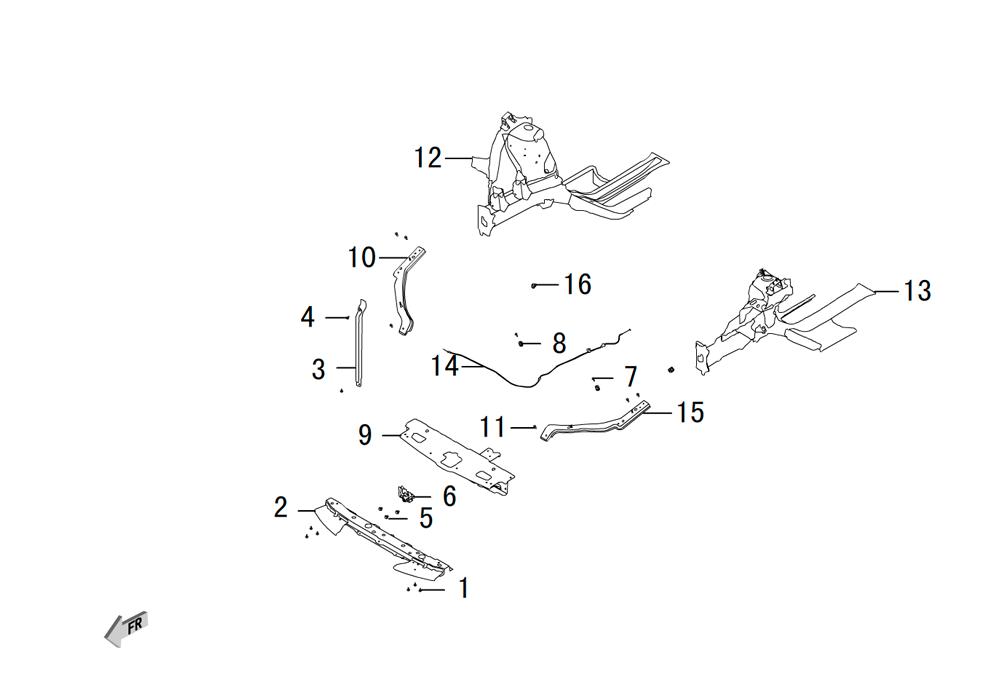 передние металлические части