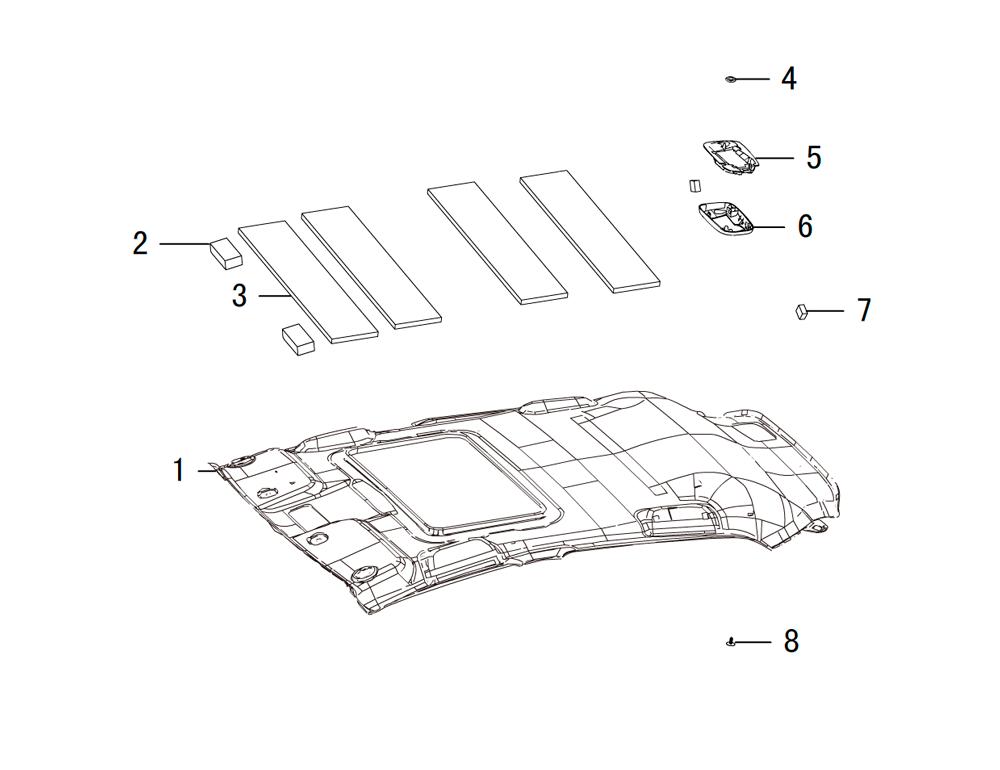 панели крыши , под люк