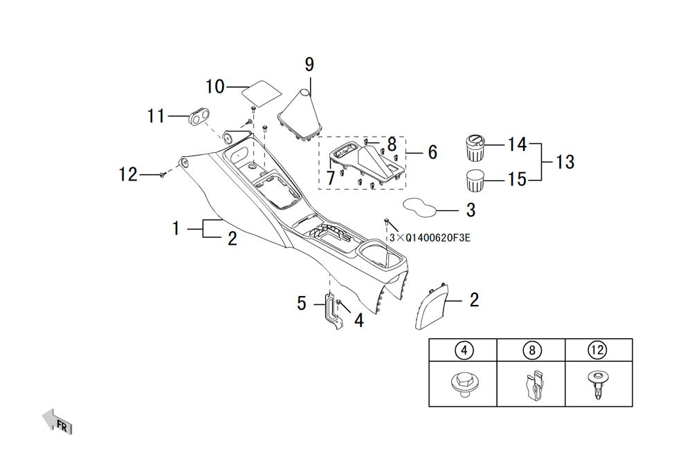центральная консоль 2