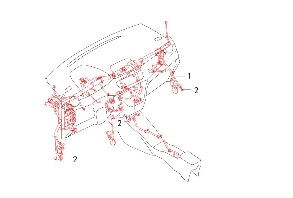 провода - панель приборов