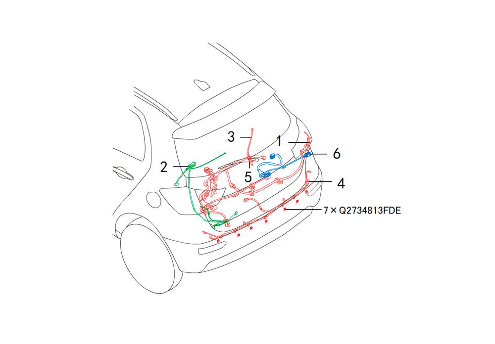 провода - багажный отсек