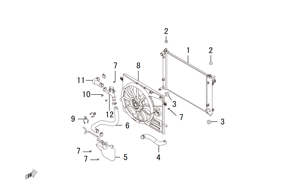 система охлаждения 4G15