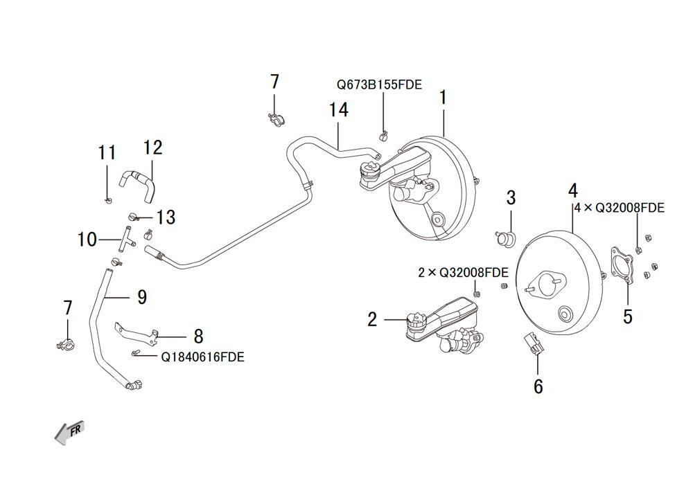 вакуумный усилитель тормозов