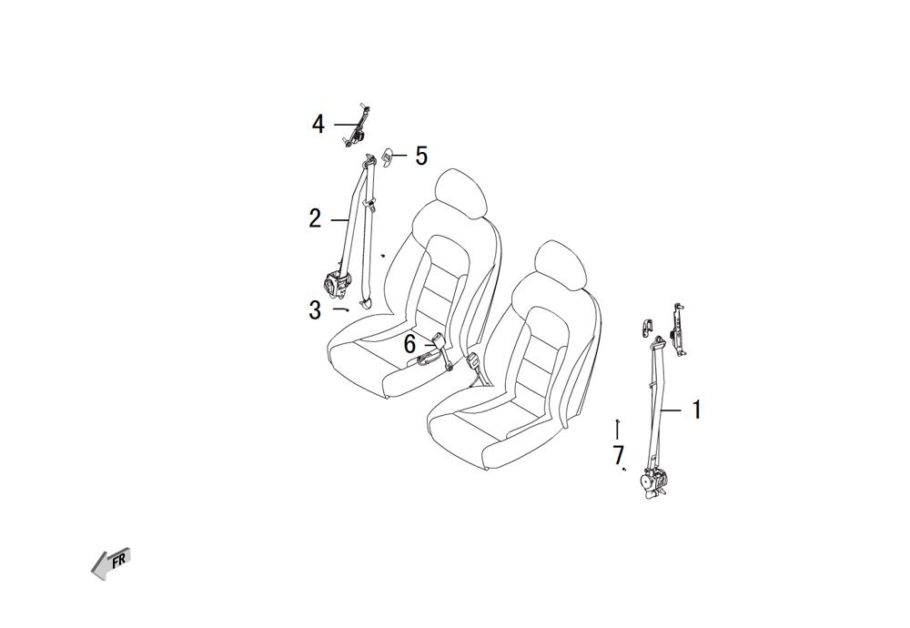 передние ремни безопасности