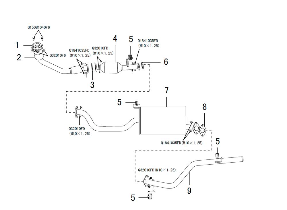 система выпуска отработанных газов DIESEL