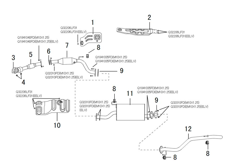 система выпуска отработанных газов 2