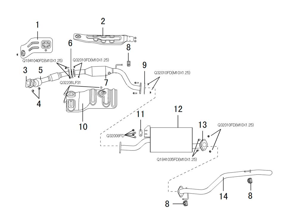 система выпуска отработанных газов DIESEL 2