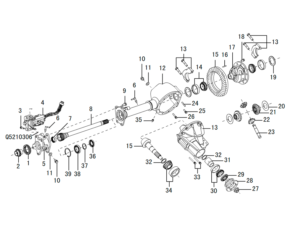 редуктор переднего моста