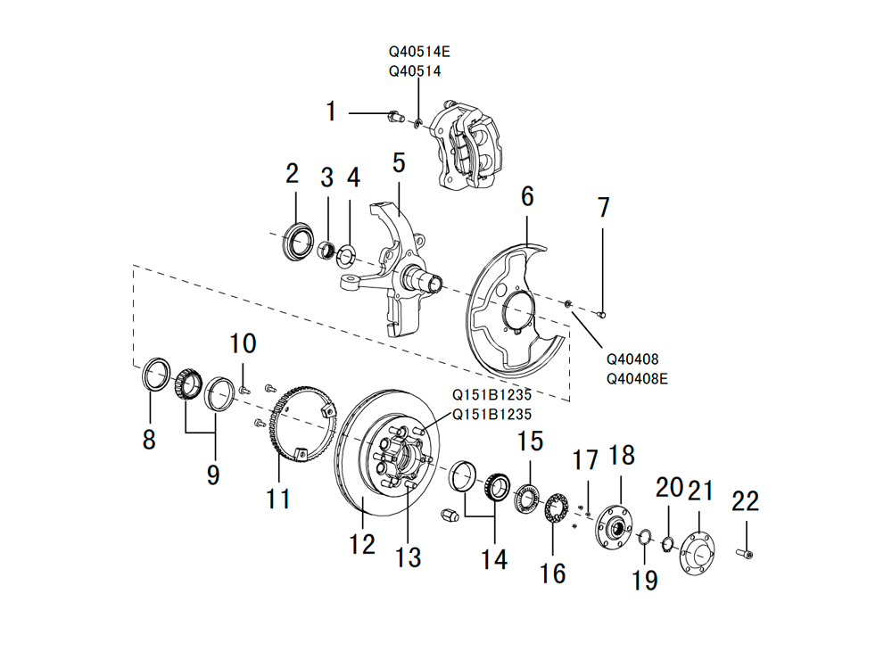 поворотный кулак 4WD