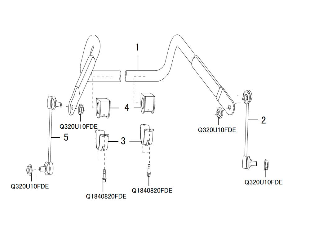 стабилизатор передний