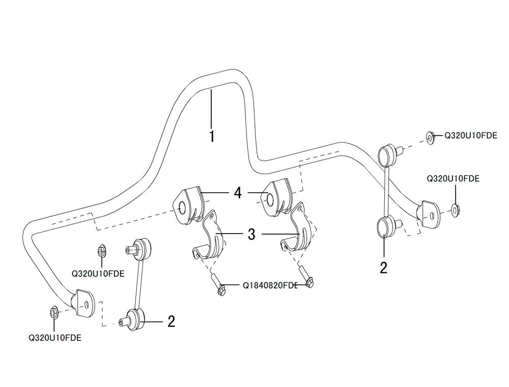 стабилизатор задний