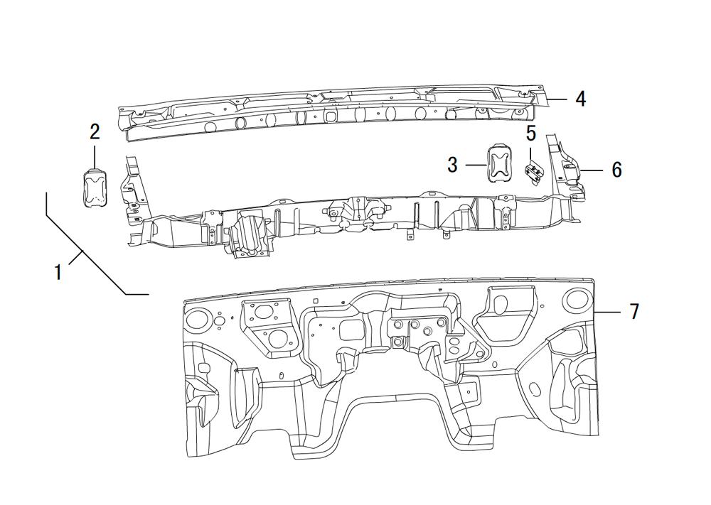 передняя панель кузова