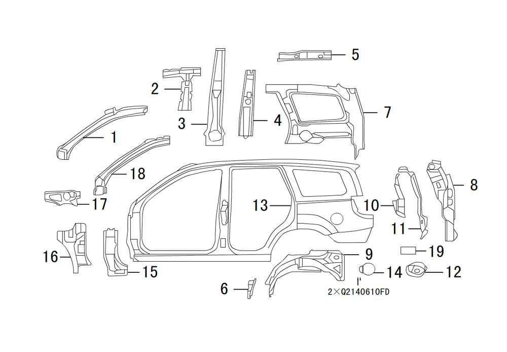 боковые панели кузова 2