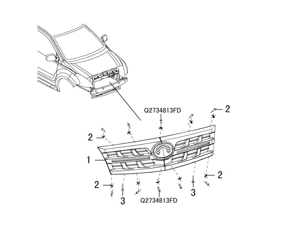 решетка радиатора 2
