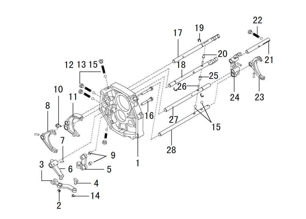 кпп 4х2 вилки и штоки K80-17-7