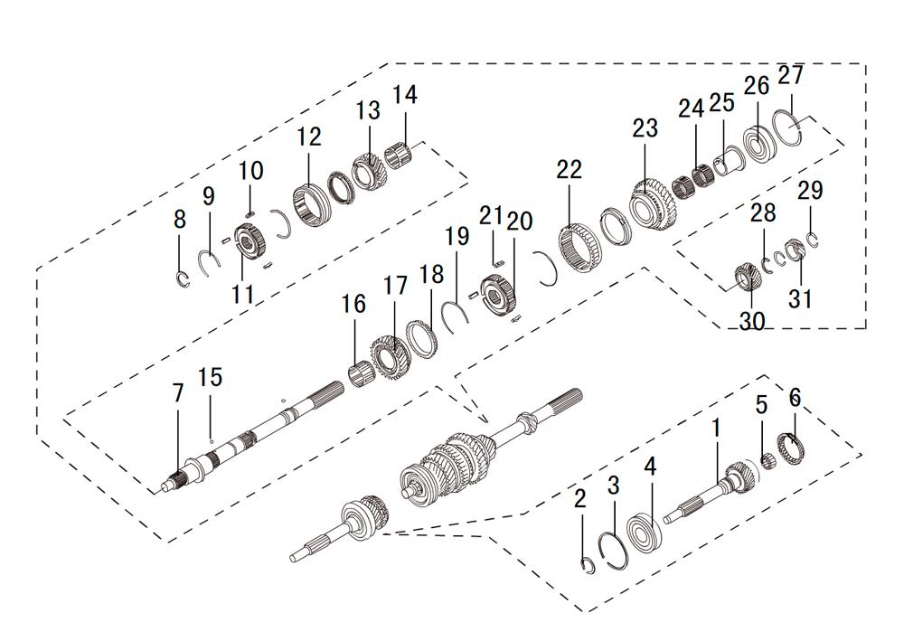 мкпп 4х2 валы и шестерни K80-17-7