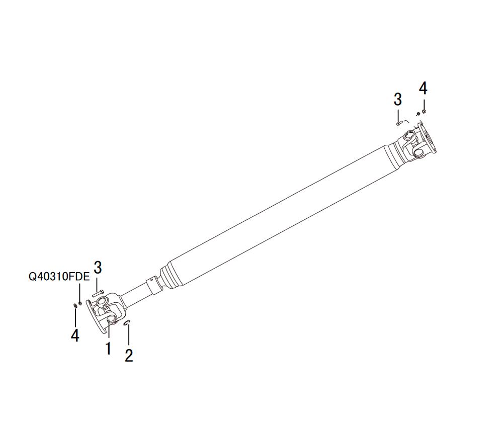 вал карданный 4х4 PROPELLER SHAFT ASSEMBLY(2)