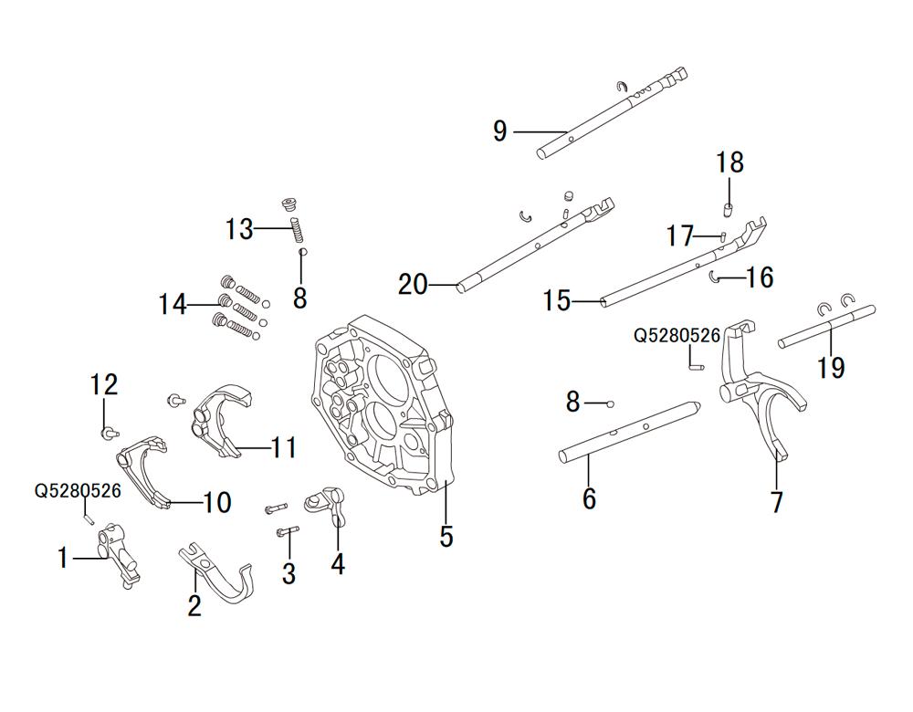 кпп 4х2 HF-BSQ-K84 (2)
