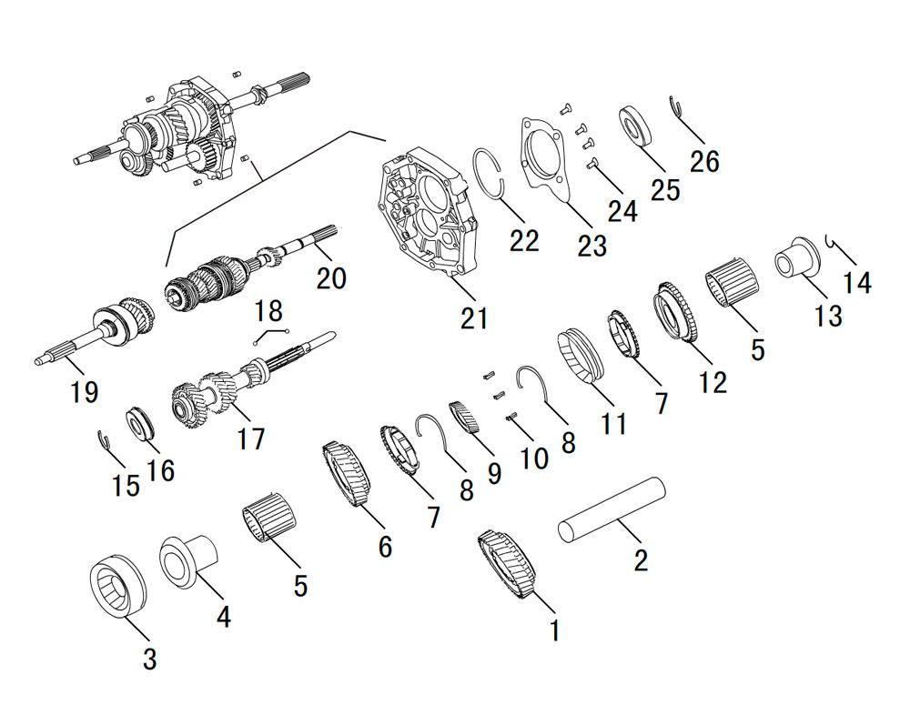 кпп 4х2 HF-BSQ-K84 (3)