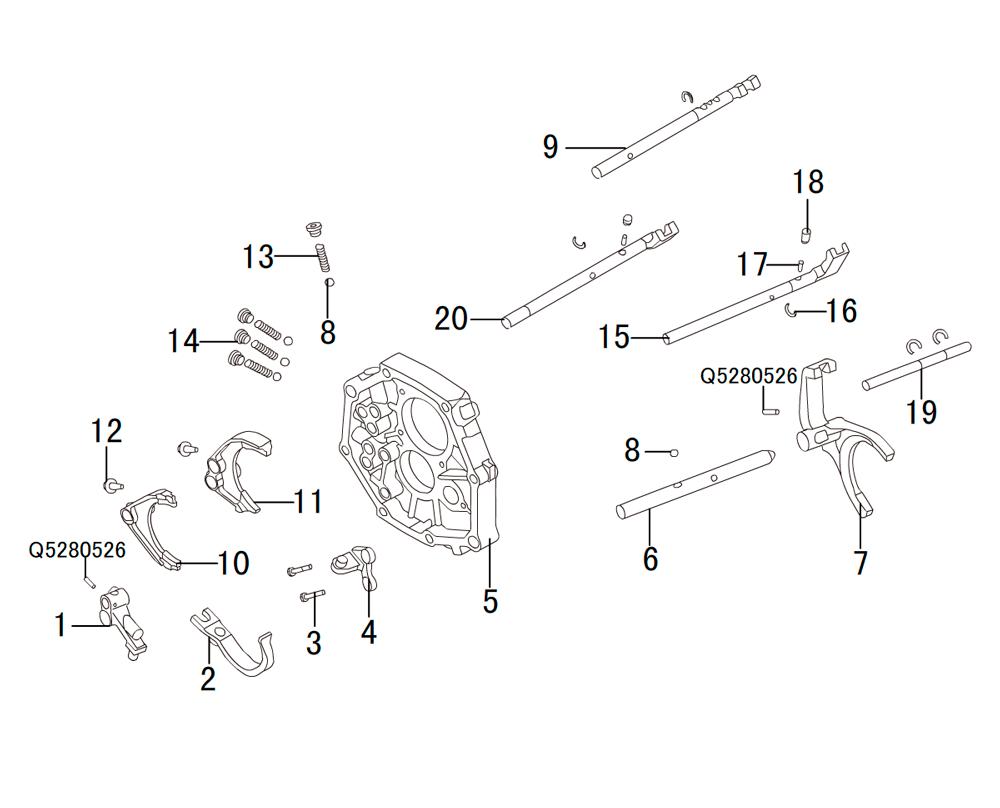 кпп 4х4 HF-BSQ-K84 (2)