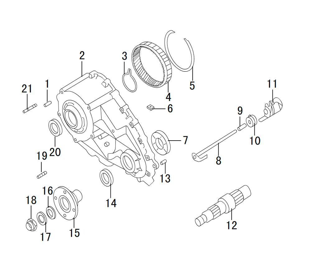 раздатка TRANSFER CASE K85-18-1(5)