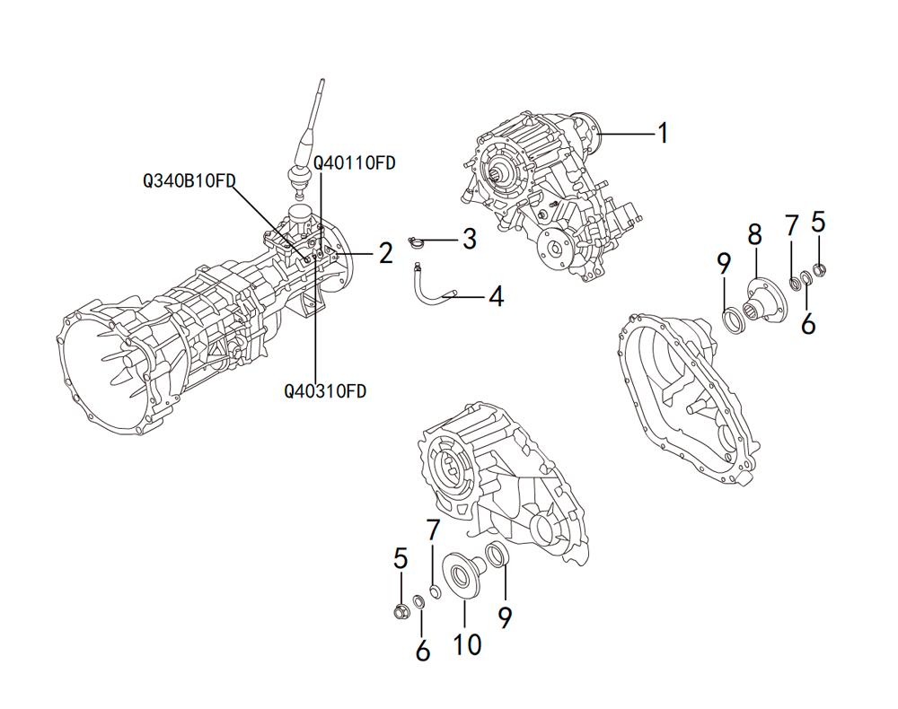 раздатка TRANSFER CASE K38-18-1