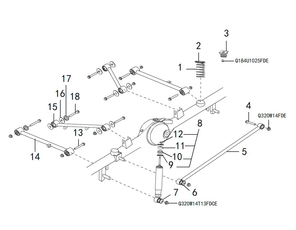 подвеска заднего моста