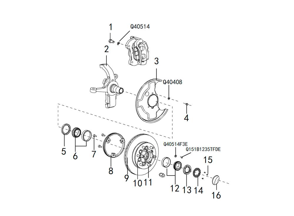 поворотный кулак 4х2