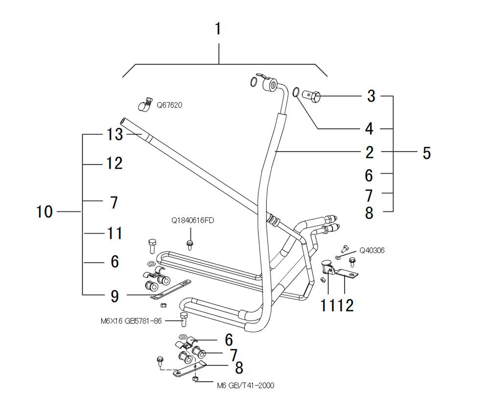 шланги гидроусилителя руля 2