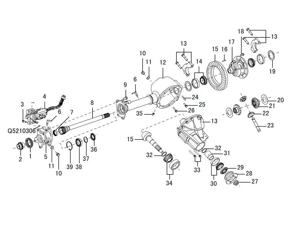 редуктор переднего моста  4/4