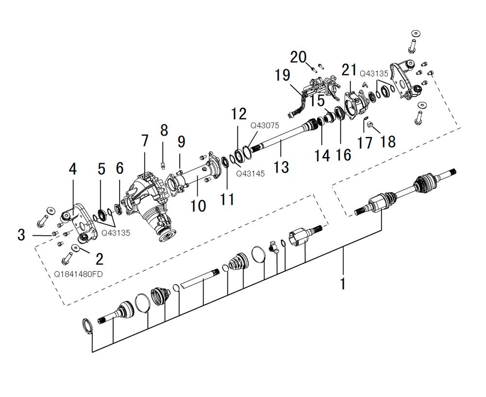 мост передний в сборе 4/4 (2)