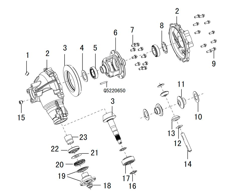 редуктор переднего моста 4/4(2)