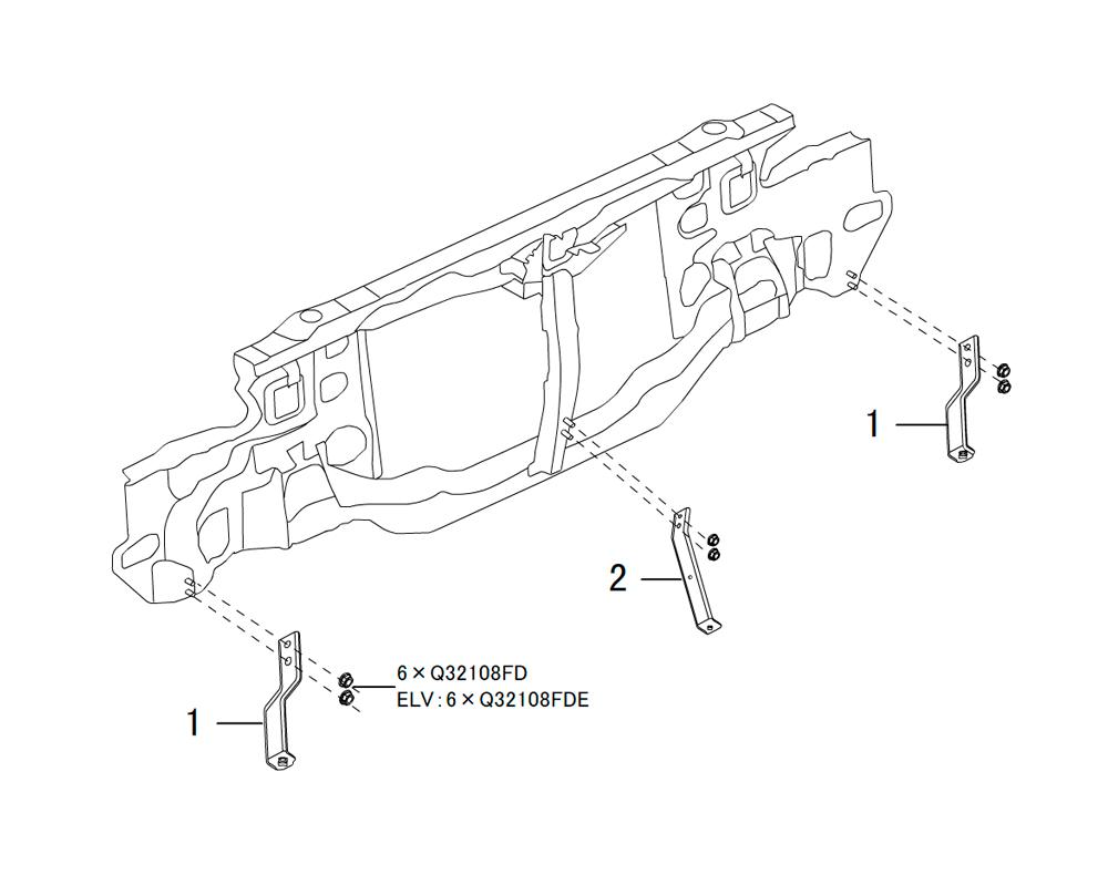 кронштейн переднего бампера
