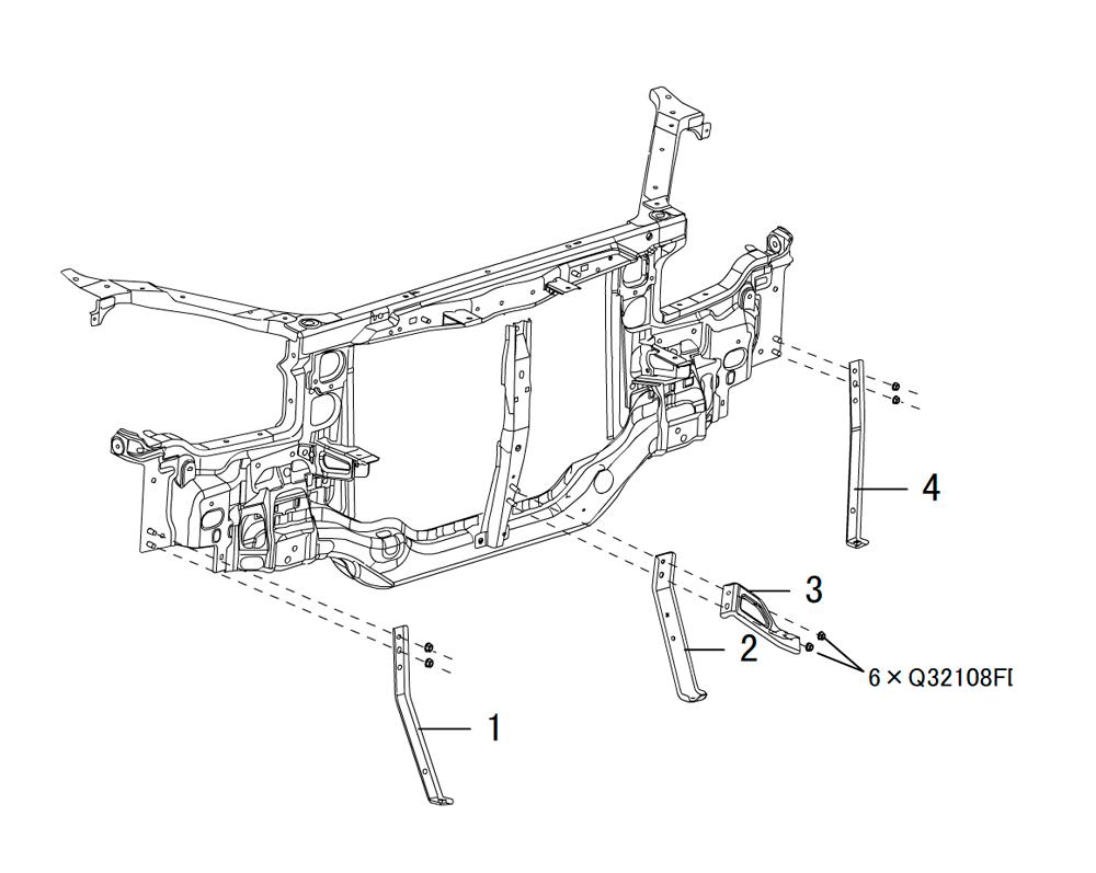 кронштейн переднего бампера 2