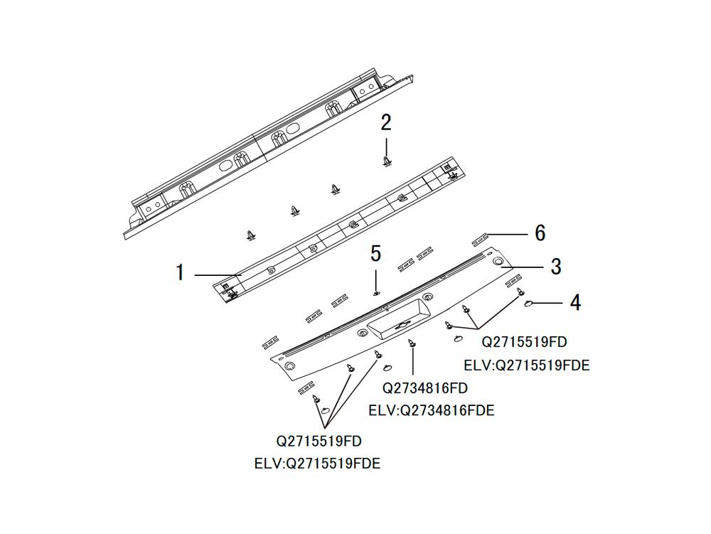 панели кузова (внутренние)