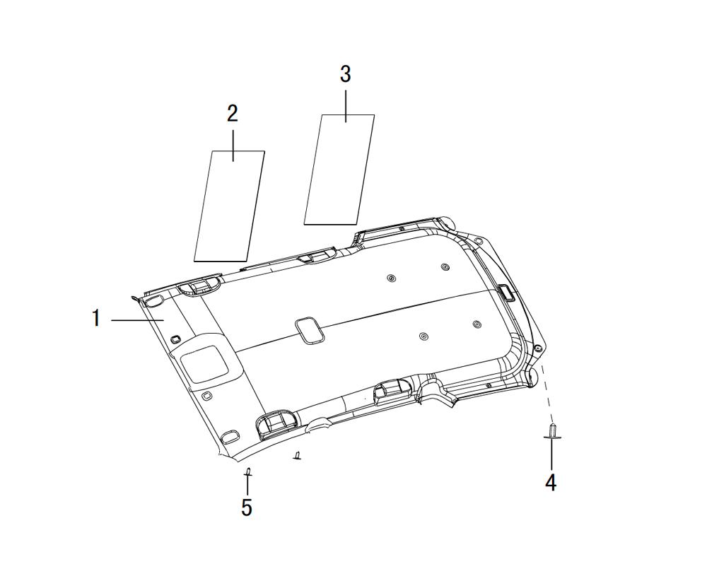 панели крыши (внутренние)