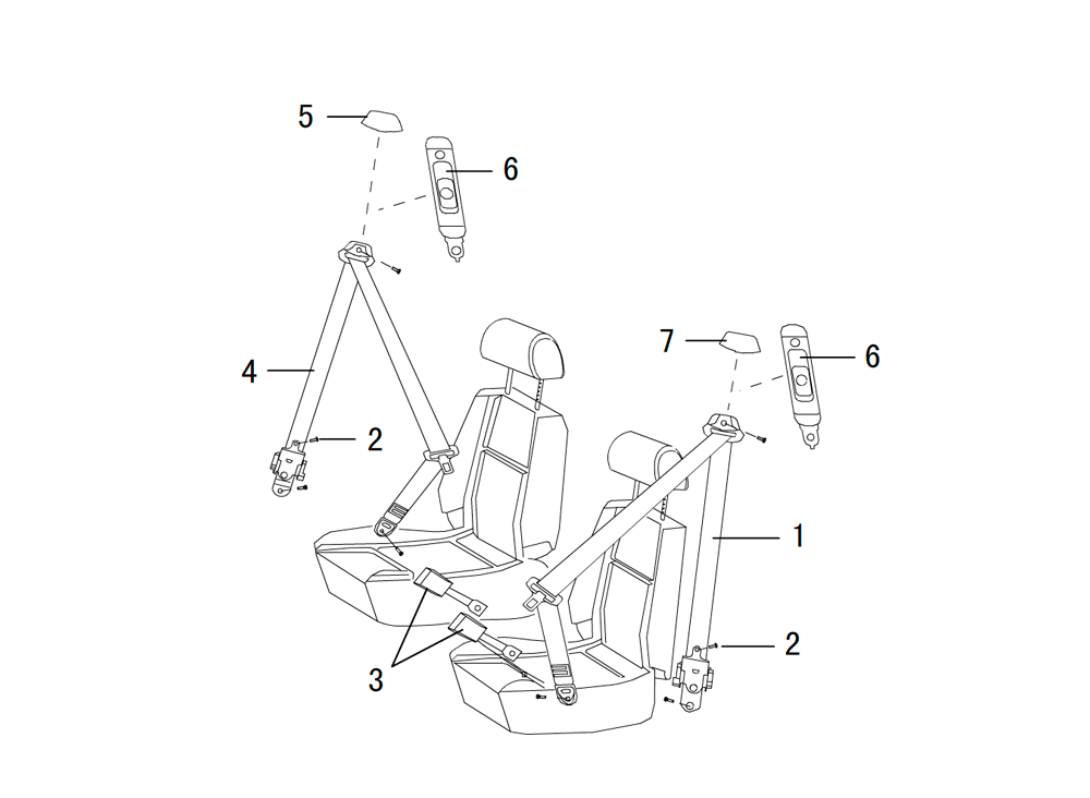 ремни безопасности (передние)