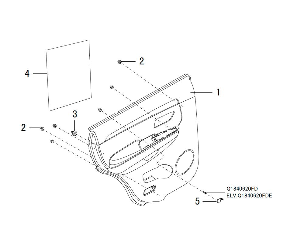 накладка задней двери (внутренняя)