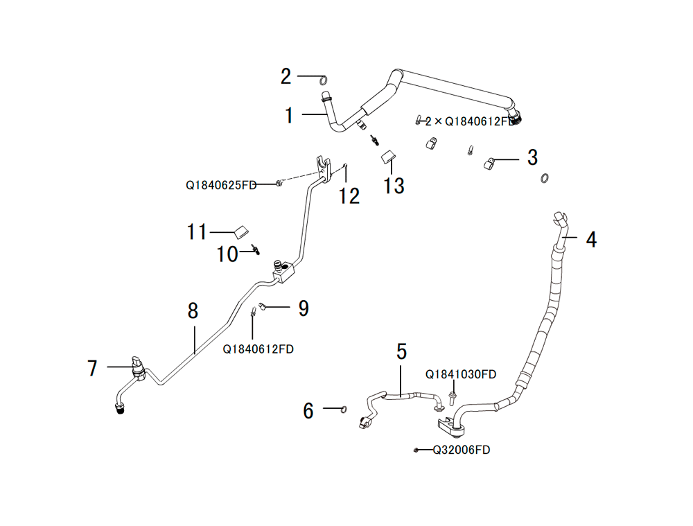 кондиционер - трубки