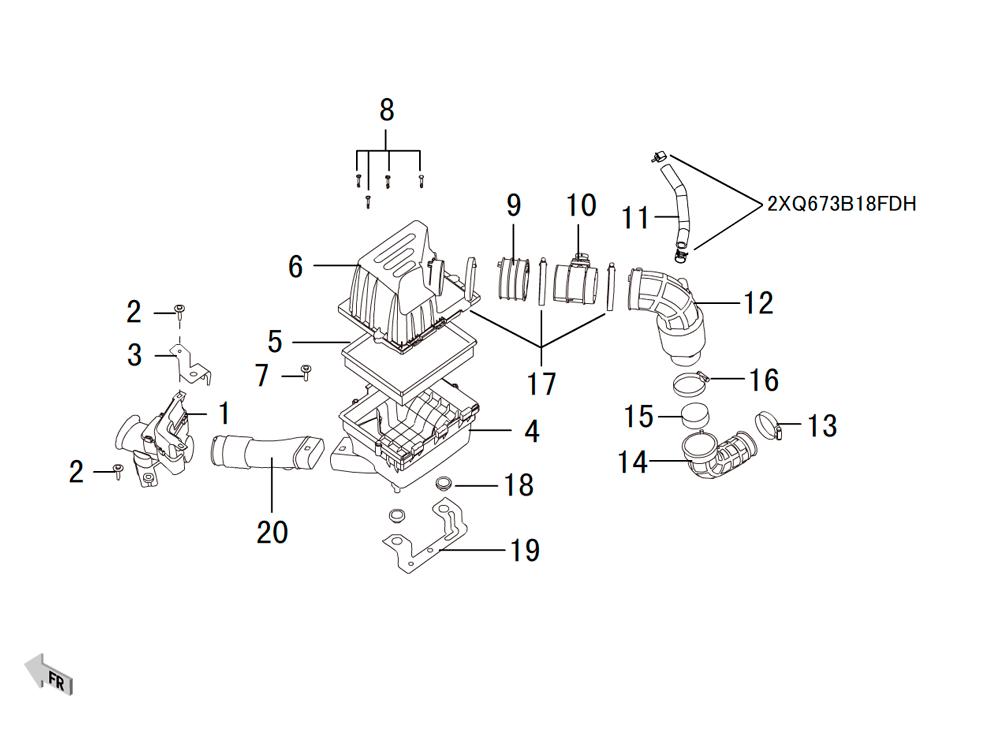 воздушный фильтр 4D20