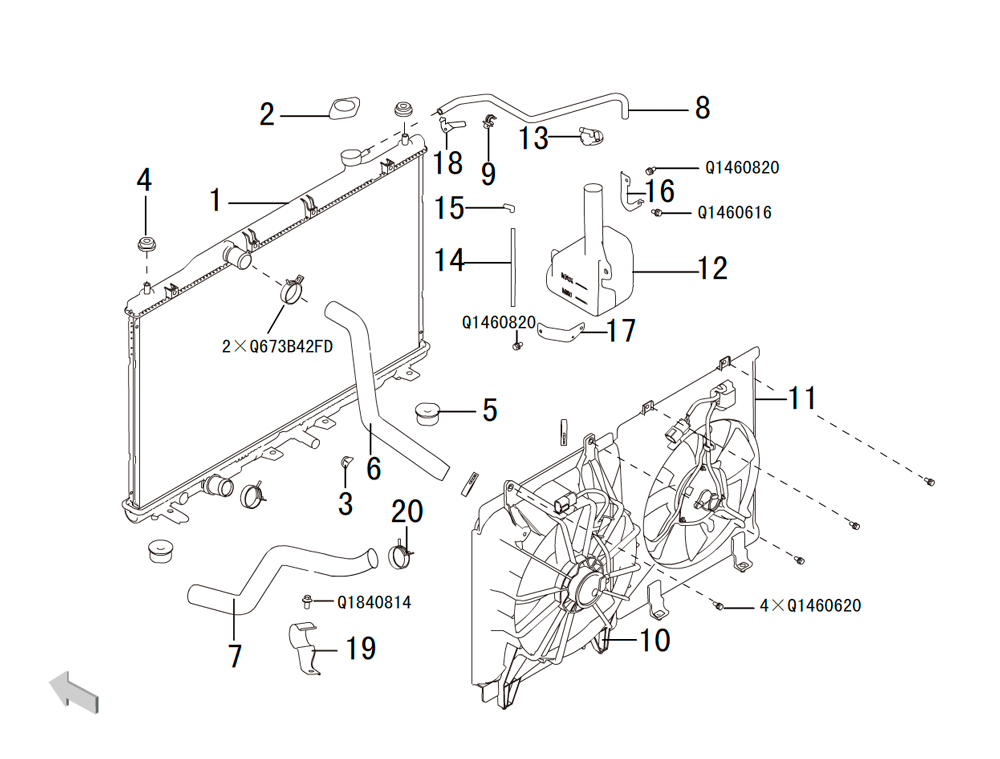 система охлаждения 4G63