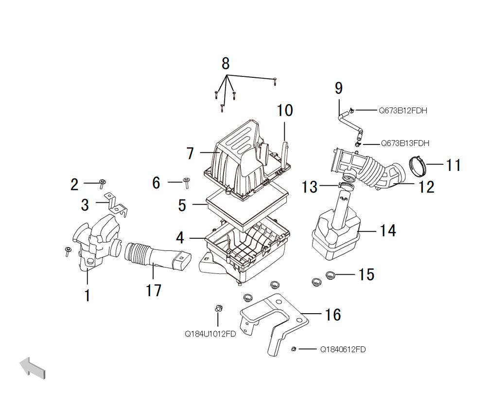 воздушный фильтр 4G63